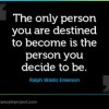 Person You Decide To Be